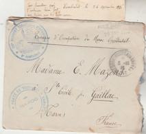 Griffe Poste Aux Armées 29/9/1916 + 2 Cachets Militaires + Trésor Et Postes Aux Armées FEZ  Lettre Pour Gaillac Tarn - WW I