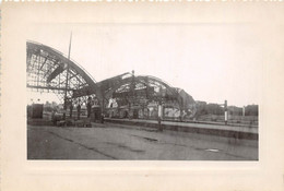 ALLEMAGNE-COBLENCE-EHRENBREITSTEIN - LA GARE ET FORTERESSE 2 PHOTOS 1947 - Places