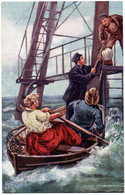 """CPA TUCK And Son """"Oilette"""" - 9029. """"Ye Mariners Of England"""" - A Visit To The Lighthouse - Tuck, Raphael"""