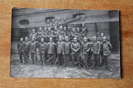 Carte Photo Sapeurs Pompiers De Paris  Section Avec Camion D'intervention Vers 1920 ? - Brandweer