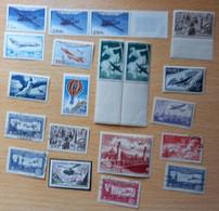 Lot 20 Timbres Poste Aérienne ( ** ) ( * ) ( ° ) / Voir Le Scan Pour Détails - 1927-1959 Mint/hinged