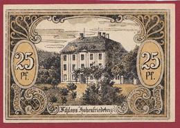 Allemagne 1 Notgeld  De 25 Pf Stadt  Hohenfriedeberg (4C) (RARE) Dans L 'état   Lot N °220 - Colecciones