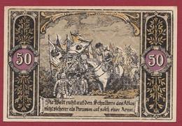 Allemagne 1 Notgeld  De 50 Pf Stadt  Hohenfriedeberg (1B) (RARE) Dans L 'état   Lot N °221 - Colecciones