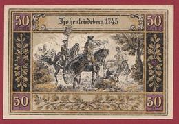 Allemagne 1 Notgeld  De 50 Pf Stadt  Hohenfriedeberg (2B) (RARE) Dans L 'état   Lot N °222 - Colecciones