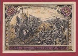 Allemagne 1 Notgeld  De 50 Pf Stadt  Hohenfriedeberg (3B) (RARE) Dans L 'état   Lot N °223 - Colecciones
