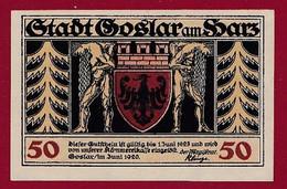 Allemagne 1 Notgeld  De 50 Pf Stadt  Goslar Am Harz  (RARE) Dans L 'état   Lot N °228 - Verzamelingen