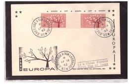 FDC7591  -      17,.9.1962  /    FDC  IRLANDA   EUROPA CEPT  -  MICHEL Nr.   155ZW-156ZW  ZWISCHENSTEGPAARE - 1962