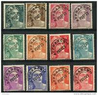 France Préos (1945) N 94 à 104 * (charniere) - 1893-1947