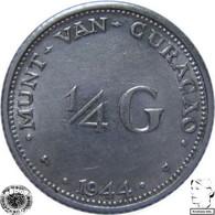 LaZooRo: Curaçao 1/4 Gulden 1944 D XF / UNC - Silver - Curacao