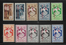 AFRIQUE EQUATORIALE FRANCAISE - AEF - A.E.F. - 1944 - YT 181/190** - MNH - SERIE COMPLETE - Nuevos