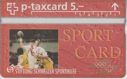 SWITZERLAND - PHONE CARD - TAXCARD PRIVÉE *** SPORTCARD & BALLON *** - Suisse