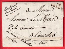 MARQUE 78 LE LUC VAR TEXTE DU MAIRE DE VIDAUBAN RECRUTEMENT ARMEE POUR CARNOULES 1818 - 1801-1848: Précurseurs XIX
