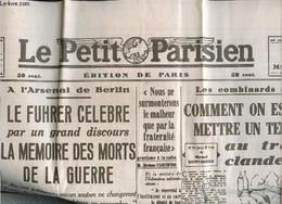 Fac-similé : Le Petit Parisien, 66e Année, N°23.383 (lundi 17 Mars 1941) : Le Fürher Célèbre Par Un Grand Discours La Mé - War 1914-18