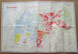 Shell - Carte / Plan De L'exposition De Bruxelles En 1958 - Otros