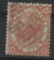 N° 21   2 L Rouge Victor Emmanuel II Cote 60 € Sassone N° 22. TB - Usados