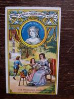 L36/6 CHROMO CHOCOLAT POULAIN ORANGE . LES FRANCAISES CELEBRES . Mme DE SEVIGNE - Poulain