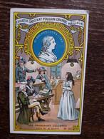 L36/8 CHROMO CHOCOLAT POULAIN ORANGE . LES FRANCAISES CELEBRES . MADAME ROLAND - Poulain
