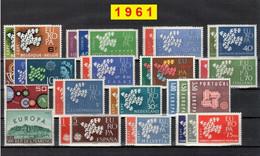 Europa CEPT 1961 Annata COMPLETA 34 Fbolli Nuovi **/MNH - Années Complètes