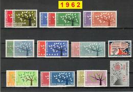 Europa CEPT 1962 Annata COMPLETA 39 Fbolli Nuovi **/MNH - Années Complètes