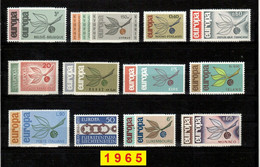 Europa CEPT 1965 Annata COMPLETA 36 Fbolli Nuovi **/MNH - Années Complètes