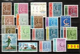 Europa CEPT 1966 Annata COMPLETA 37 Fbolli Nuovi **/MNH - Années Complètes