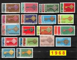 Europa CEPT 1968 Annata COMPLETA 35 Fbolli Nuovi **/MNH - Années Complètes