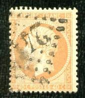23a - 40c Orange Pâle Empire Dentelé - Oblitéré - Très Beau - 1862 Napoleon III