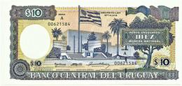 Uruguay - 10 Pesos Uruguayos - ND (1995 ) - Unc. - Pick 73B.a - Serie A - ERROR With Decreto-Ley - Uruguay