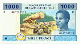 Cameroon - 1000 FRANCS - 2002 - Pick 207 U - UNC. - États De L'Afrique Centrale - 1.000 - Cameroon