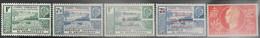 Wallis & Futuna  1941-4   5 Diff  MH   2016 Scott Value $6.70 - Unused Stamps