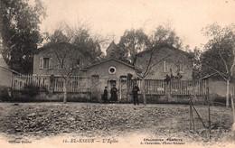 El-Kseur (Algérie) L'Eglise Et La Mairie, M. Le Curé - Collection Parfaite - Edition Caravano - Carte N° 12 - Other Cities