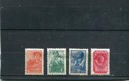 Russie 1939-43 Yt 734-737 - Unused Stamps