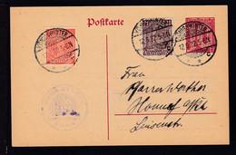 Ziffer 10 Pfg. Mit Zusatzfrankatur Als Dienstpostkarte Der Kreis-Synode Bonn  - Stamped Stationery