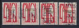 Zegel Nr. 258 éérste ORVAL Voorafgestempeld Nr. 5592 A + B + C + D  RONSE  1930  RENAIX , Staat Zie Scan ! - Roller Precancels 1930-..