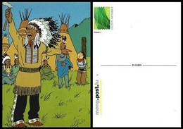 Entier Postal Privé** - Kuifje/Tintin - Milou/Bobbie - Haddock - Tintin In Amerika/Tintin En Amérique/Kuifje In Amerika - Privé