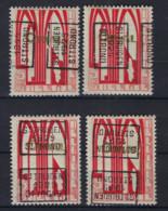 Zegel Nr. 258 éérste ORVAL Voorafgestempeld Nr. 4910 A + B + C + D  ST. TRUIDEN  1929  ST. TROND , Staat Zie Scan ! - Roller Precancels 1920-29
