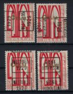 Zegel Nr. 258 éérste ORVAL Voorafgestempeld Nr. 4921  A + B + C + D  WESTERLOO 1929  , Staat Zie Scan ! - Roller Precancels 1920-29