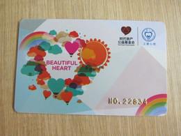 Beautiful Heart Advertisement Card, Hot Balloons - Unclassified