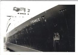 """PAQUEBOT """"FRANCE"""" EN CALE SECHE PHOTO 9X13 - Boats"""