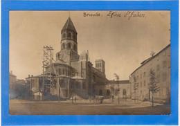 43 HAUTE LOIRE - BRIOUDE Eglise Saint-Julien, Carte Photo - Brioude