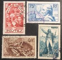 312 313 314 315 Chômeurs Pilâtre Rouget Marseillaise Lot De 4 Oblitéré - Usati