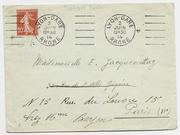 N° 138 LETTRE MECANIQUE KLEIN  LYON-GARE 2 JUIN 14 RHONE - Mechanical Postmarks (Advertisement)