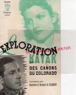 03-VICHY-69-LYON- LIVRET JEUNE FRANCE EXPLORATION EN KAYAK CANONS COLORADO-PETAIN-BERNARD DE COLMONT-CHANTIERS JEUNESSE - War 1939-45
