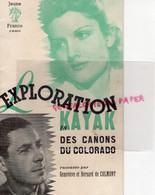 03-VICHY-69-LYON- LIVRET JEUNE FRANCE EXPLORATION EN KAYAK CANONS COLORADO-PETAIN-BERNARD DE COLMONT-CHANTIERS JEUNESSE - Guerra 1939-45