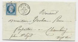 N° 14 PC 4200 TYPE 15 ANNEMASSE 14 JUIN 1862 LETTRE HAUTE SAVOIE - 1849-1876: Classic Period