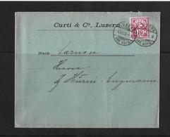 1903 HEIMAT LUZERN → Briefumschlag Curti & Co. Luzern Nach Sarnen - Covers & Documents