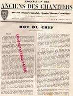 03-VICHY-87-LIMOGES-16-CHARENTE-CHANTIERS JEUNESSE -PETAIN-COLLABORATION- AOUT 1943-SAINT JUNIEN CHATELARD-BELLAC-NEXON - War 1939-45