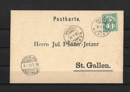 1902 HEIMAT LUZERN → Postkarte / Bestellung NEBIKON Nach St.Gallen - Covers & Documents