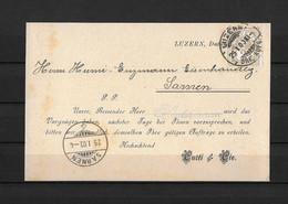1903 HEIMAT LUZERN → Postkarte / Besuchsankündigung Curti & Cie. Nach Sarnen - Covers & Documents