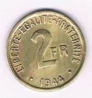 2 FRANCS 1944 (libre) FRANKRIJK /5049/ - I. 2 Francs